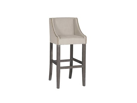 Gabby Winston Burnished Oak & Sunbrella Linen Dove Bar Stool GASCH578S300F03