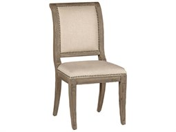 Gabby Yarborough Burnished Oak & Sunbrella Linen Dove Dining Side Chair