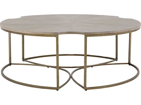 Gabby Zelda Cerused Oak & Light Bronze 48'' Wide Round Coffee Table GASCH153530