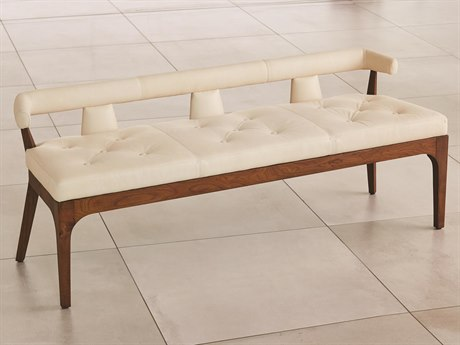 Global Views Natural Walnut Accent Bench GV2592
