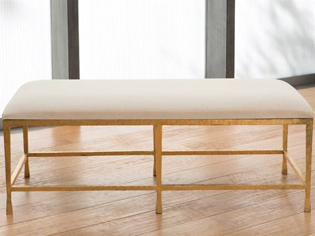 Global Views Gold Leaf Accent Bench