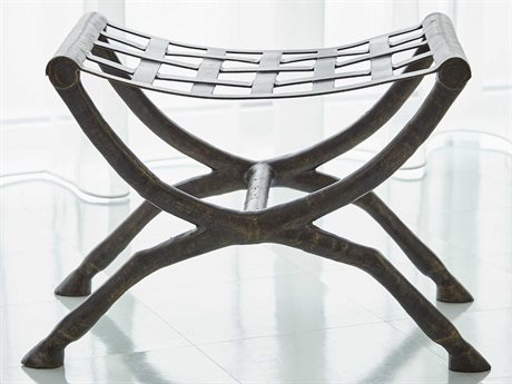 Global Views Bronze Accent Bench
