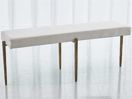 Global Views Antique Gold Accent Bench
