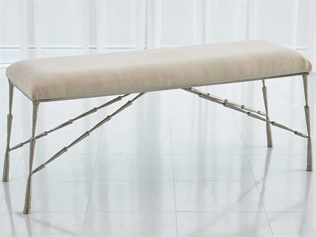 Global Views Nickel Accent Bench