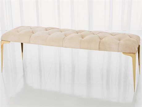 Global Views Shiney Brass Accent Bench