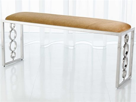 Global Views Nickel Accent Bench GV992932