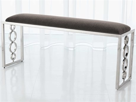 Global Views Nickel Accent Bench GV992934
