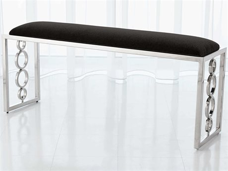 Global Views Nickel Accent Bench GV992936