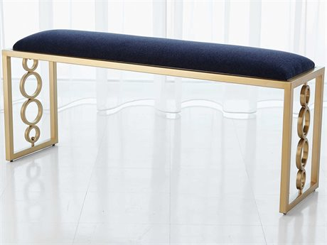 Global Views Brass Accent Bench GV992937