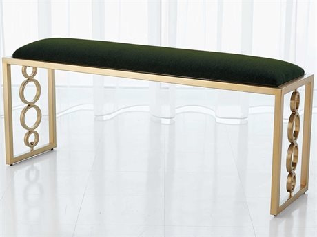 Global Views Brass Accent Bench GV992938