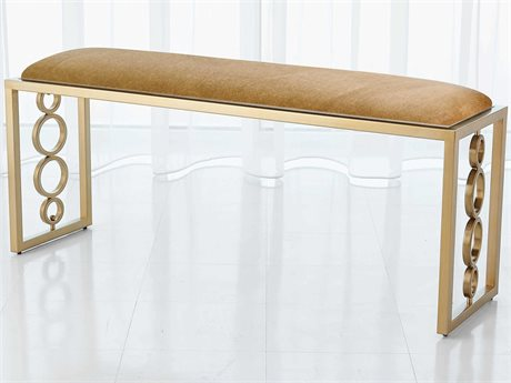 Global Views Brass Accent Bench GV992939