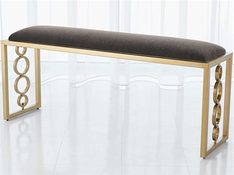 Global Views Brass Accent Bench GV992941