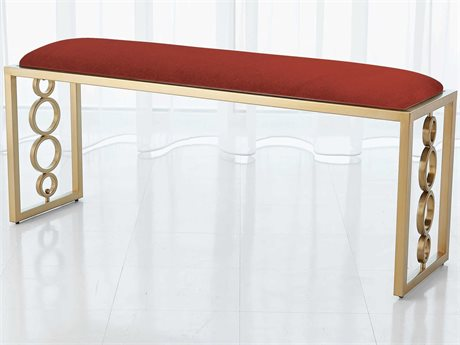 Global Views Brass Accent Bench GV992942