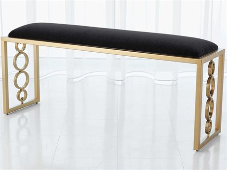 Global Views Brass Accent Bench GV992943