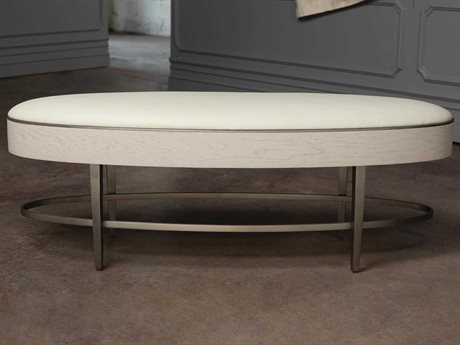 Global Views Ivory / Painted Stainless Steel Accent Bench