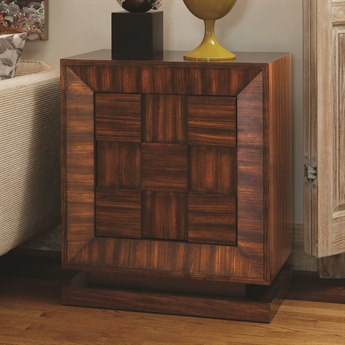 Global Views Walnut With Satin Lacquer Accent Chest
