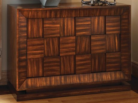 Global Views Walnut With Satin Lacquer Accent Chest GV2261