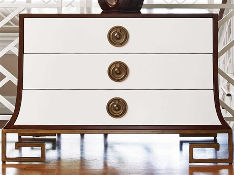 Global Views Ivory Lacquer / Walnut Satin Accent Chest