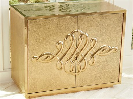 Global Views Grey Deco / Brass Accent Chest GV992667