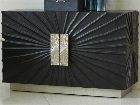 Global Views Black / Nickel Accent Chest