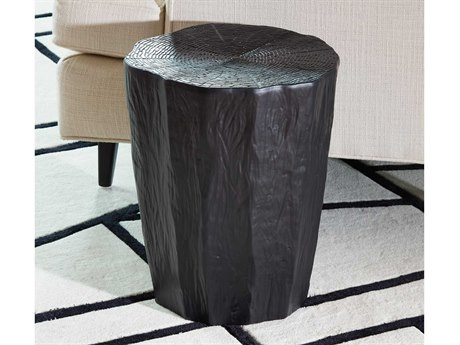 Global Views Black Accent Stool