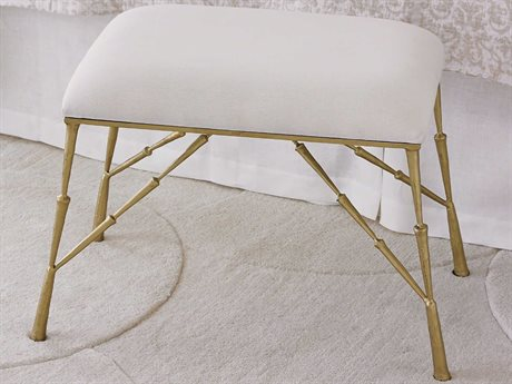 Global Views Antique Brass Accent Stool GV790374