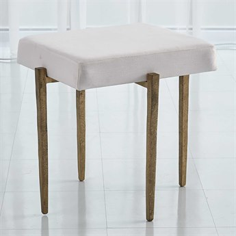 Global Views Antique Gold Accent Stool GV790865