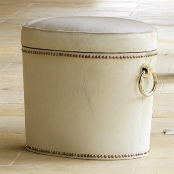 Global Views Nickel Accent Stool