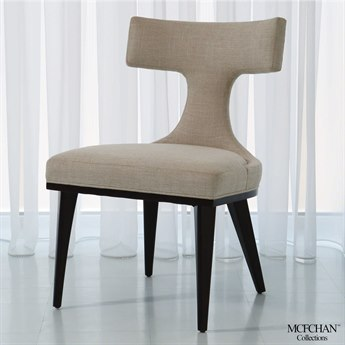 Global Views Anvil Back Woven Dining Side Chair
