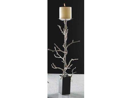 Global Views Twig Nickel Large Candle Holder