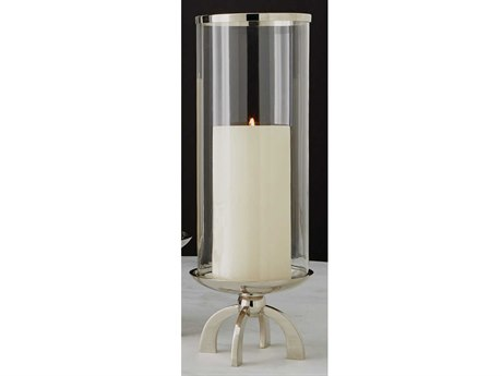 Global Views Quad Base Small Nickel Candle Holder