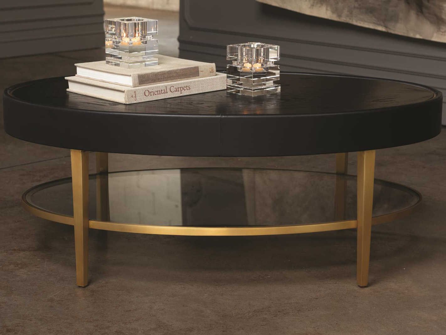- Global Views Black Lacquer 30 Sheen / Brushed Brass 46'' Wide