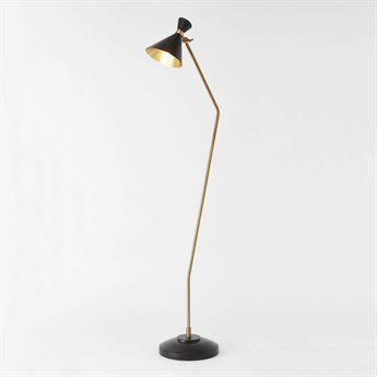 Global Views Cone Bronze/Brass Floor Lamp GVD990038
