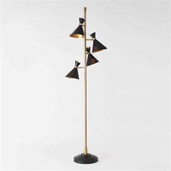 Global Views Cone Multi Four-Light Floor Lamp GVD990066
