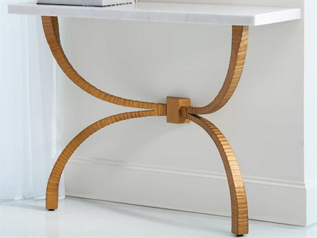 Global Views Gold 46'' Wide Rectangular Console Table