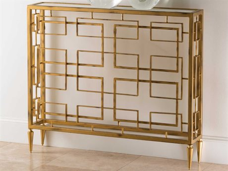Global Views Gold 43'' Wide Rectangular Console Table