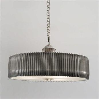 Global Views Crimp Chandelier Antique Nickel Three-Light 32'' Wide Pendant