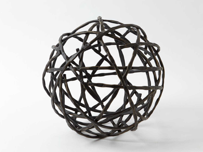 Global Views Strap Sphere Medium Decorative Accent