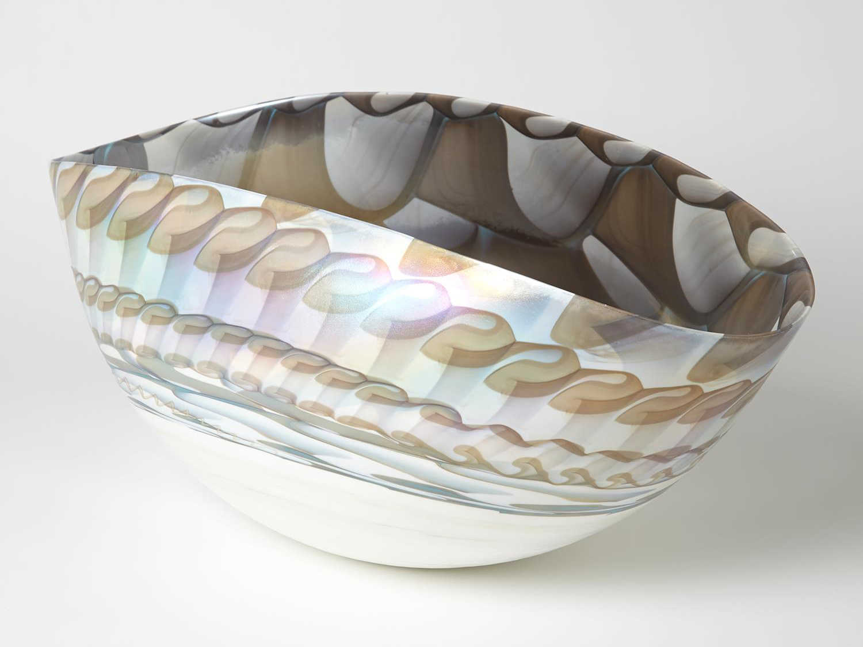 Global Views Ivory / Amber Decorative Bowl