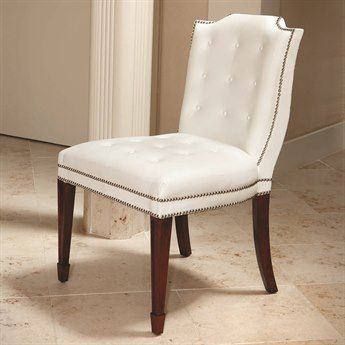 Global Views Brown Stain Satin Laquer / Nickel Side Dining Chair