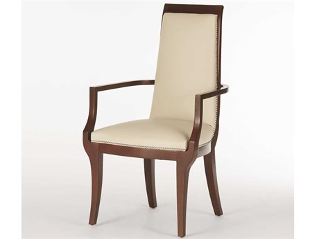 Global Views Satin Lacquer Arm Dining Chair
