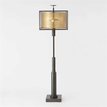 Global Views Double Shade Two-Light Brass / Cast Iron Floor Lamp GV992230