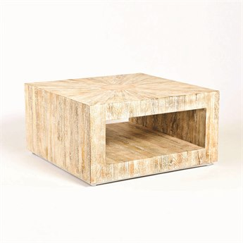 Global Views Driftwood 38'' Square Coffee Table GV790165