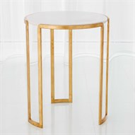 Gold Leaf 18'' Wide Round End Table