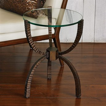Global Views Bronze 18'' Wide Round End Table