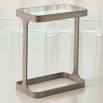Global Views Natural Iron 16'' Wide Rectangular End Table