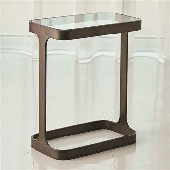 Global Views Bronze 16'' Wide Rectangular End Table