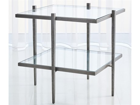 Global Views Natural Iron 26'' Wide Square End Table