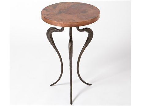 Global Views Black Forest 13'' Wide Round End Table