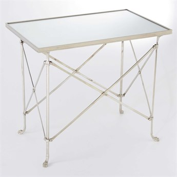 Global Views Nickel 30'' Wide Rectangular End Table GV8829